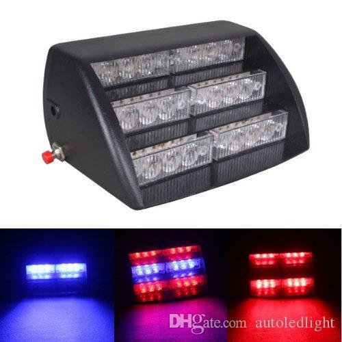 fireman led strobe light 18 Amber White LED 3 Mode Interior Emergency Deck Dash Flash Strobe Lights