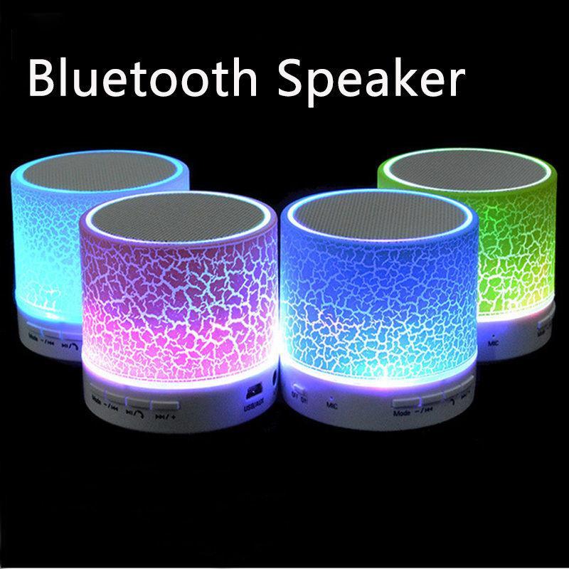LED MINI Bluetooth Speaker BS008 Беспроводной Портативный Музыкальный Динамик Звуковой Ящик Сабвуфер TF USB Динамики Для телефона ПК