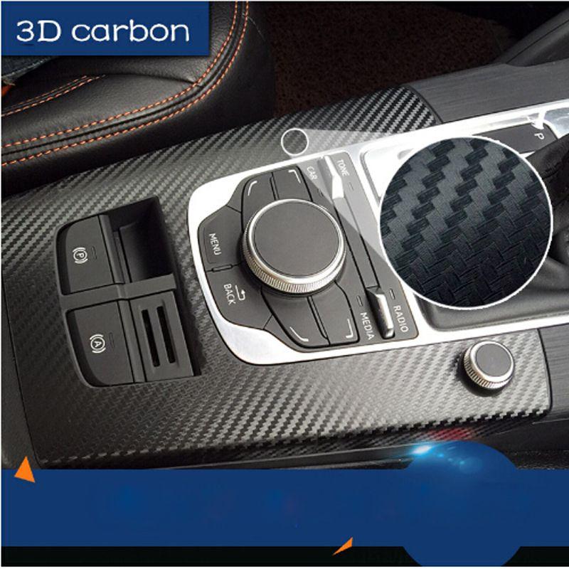 200*50cm 152*30cm Car Styling Waterproof Black Car Sticker 3D Carbon Fiber Vinyl Film With Air Free Bubble Car wrap DIY Tuning Part Sticker