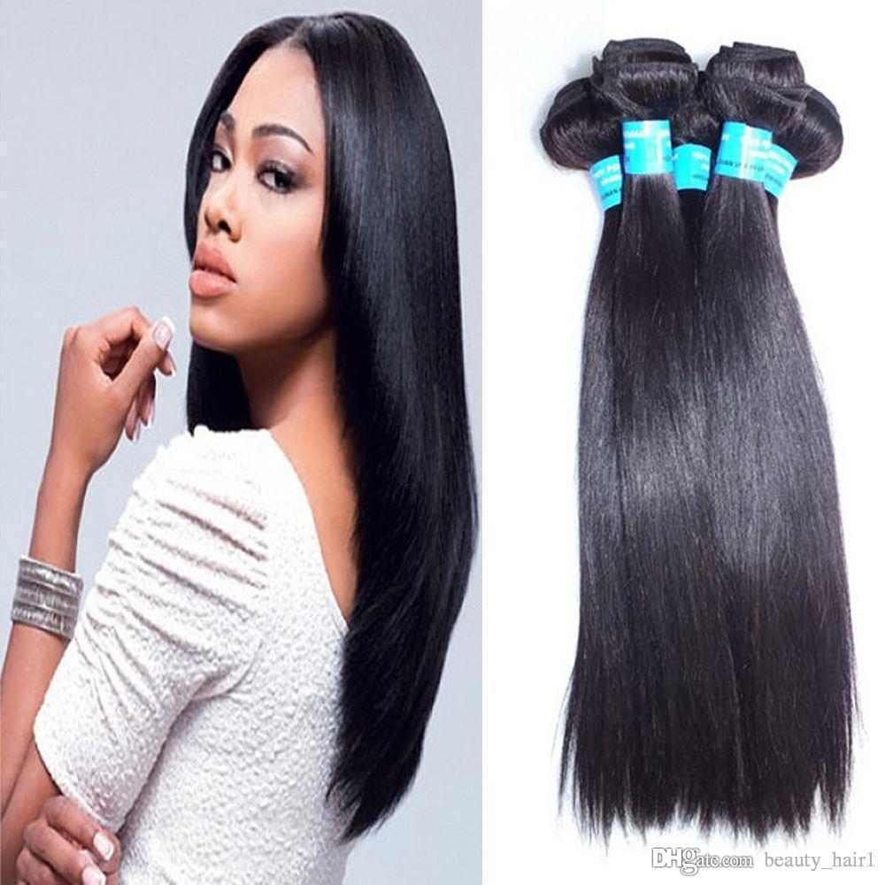 6A unprocessed brazillian straight hair 4pcs lot NO SHED Ali moda freetress hair best brazilian hair vendors 3,4,5pcs/lot