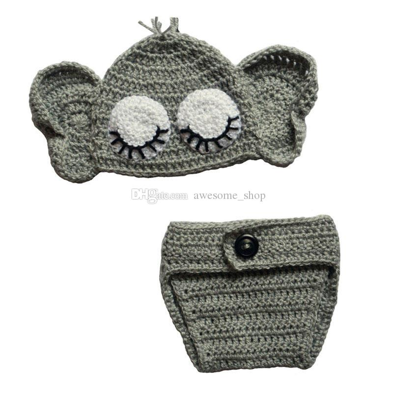 Elephant Hat and Diaper Cover for Boy or Girl pattern by Briana K ... | 800x800