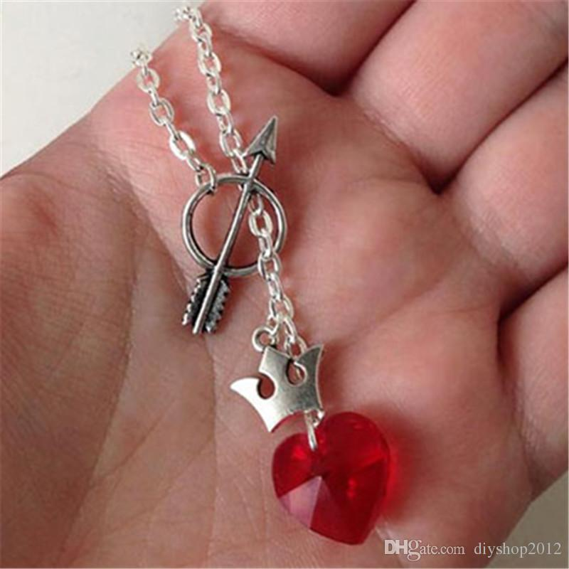 20pcs Regina Robin Pendant OUAT Outlaw Queen Ship Inspired Necklace Heart Crystal Crown Arrow Once Upon A Time Jewelry