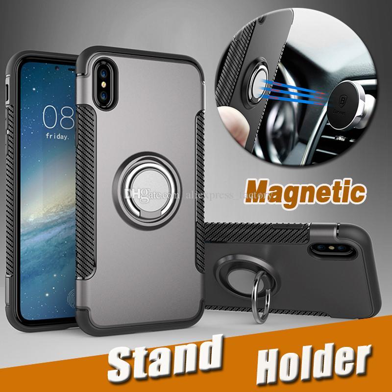 360 스탠드 홀더 자석 갑옷 킥 다기능 보호 커버 하드 케이스 아이폰 (11) 프로 맥스 XS XR X 8 7 6 6S 플러스 충격 방지