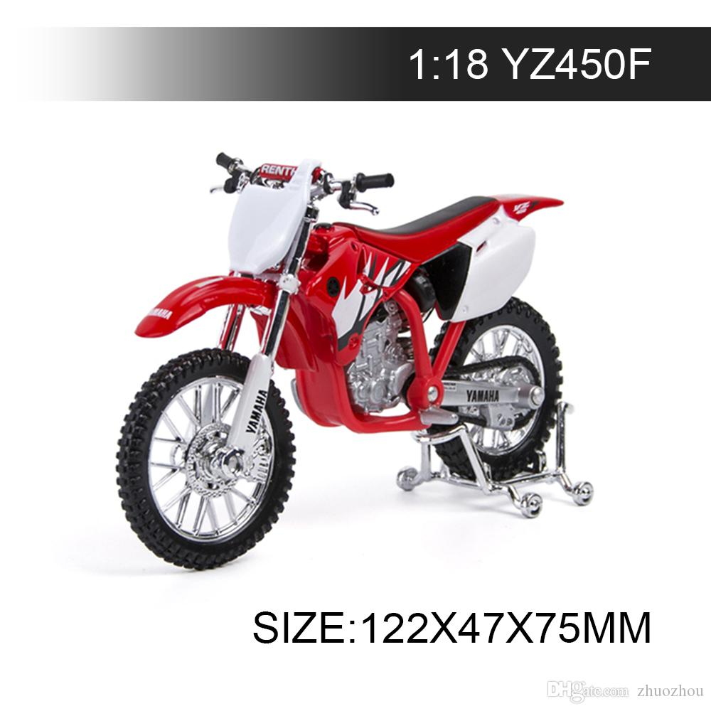 YMH Motorcycle YZ450F 1:18 Metal Diecast Models Motor Bike Miniature Race Toy For Gift Collection