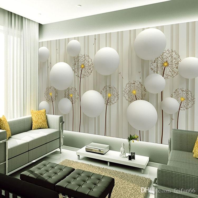 Dandelion With Romantic 3D Ball Photo Wallpaper Living Room TV Wall  Wallpaper 3d Backdrop Wallpaper Wall Mural Wall Paper Canada 2019 From  Feifan66, ...