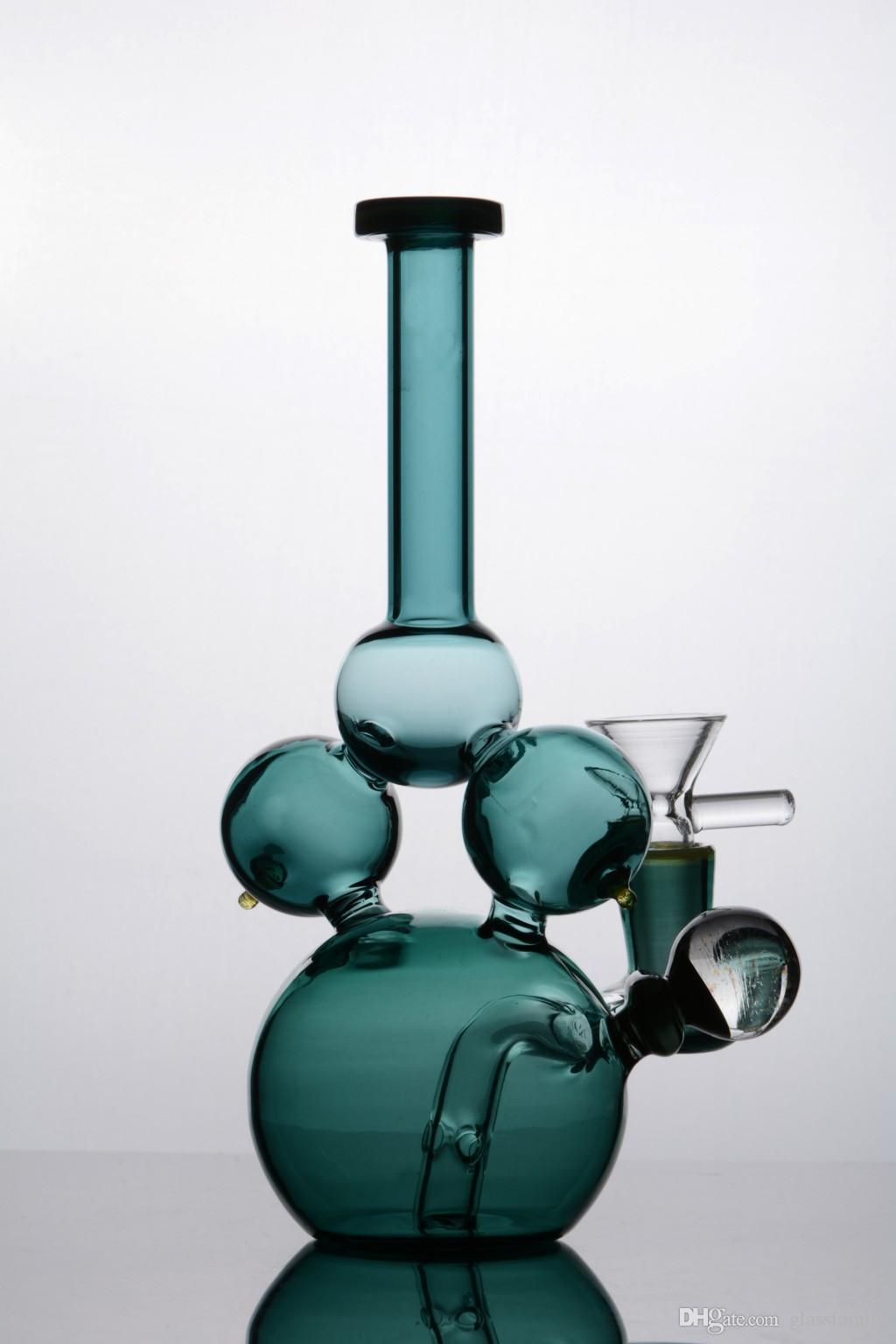 Brand new colorido Fab Egg Vidro Bongs artista jet ball bubbler Tubulações de água narguilé com 14 mm