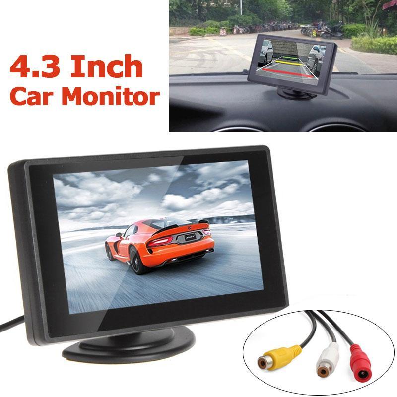 4,3 Zoll TFT LCD Auto Parkplatz Rückansicht Monitor Rückfahrkamera Nachtsicht 2 Videoeingang für Rückfahrkamera DVD CMO_363