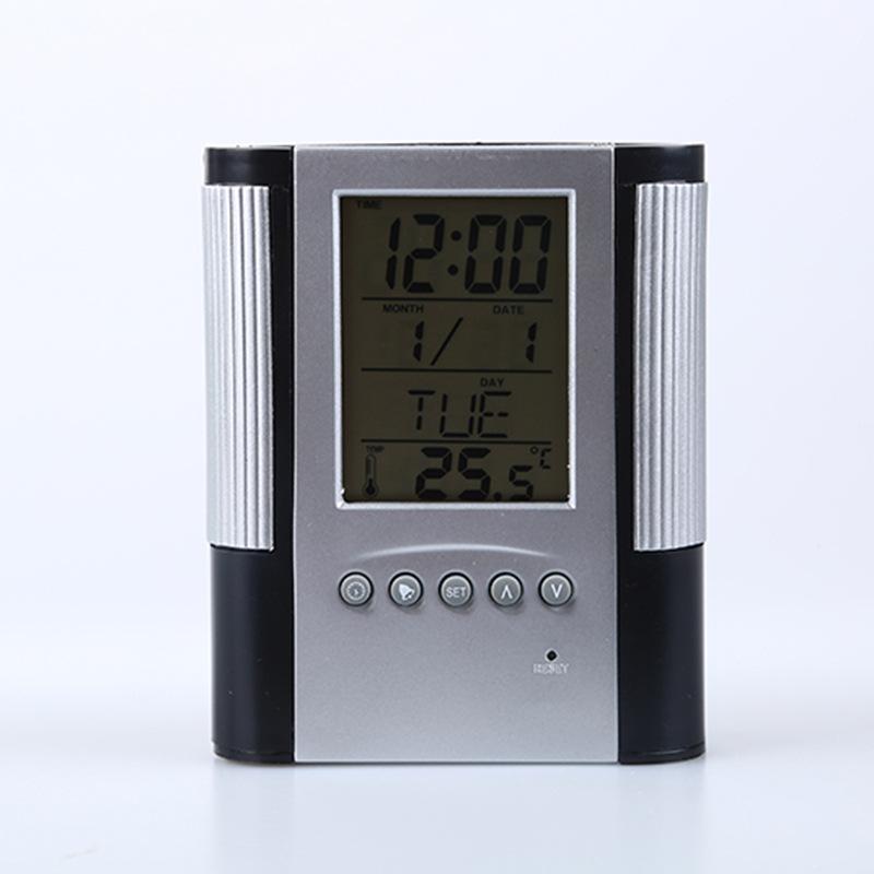 Pinselkalenderuhr kreatives Büro liefert elektronischen Kalenderstift-Behälterherstellerverkauf