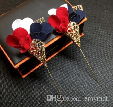 Colori tricromatici fiori spille spille vestito vestito da sposa spilla corsetti per i regali di scena presieduta da festa due stili