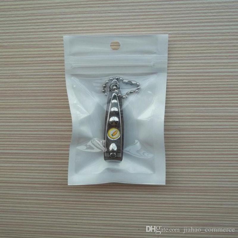 백색 + 명확한 각자 지퍼 플라스틱 소매 포장 부대, 선물을 % s 많은 구멍 교수형 구멍 차 충전기 USB 케이블 2000pcs / lot