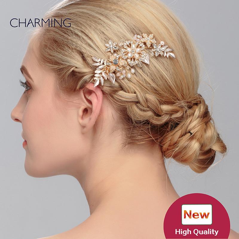 Fascinator pretty hair accessories wedding accessories hair metal bridal tiaras crystals pearls hair accessories for sale wholesale