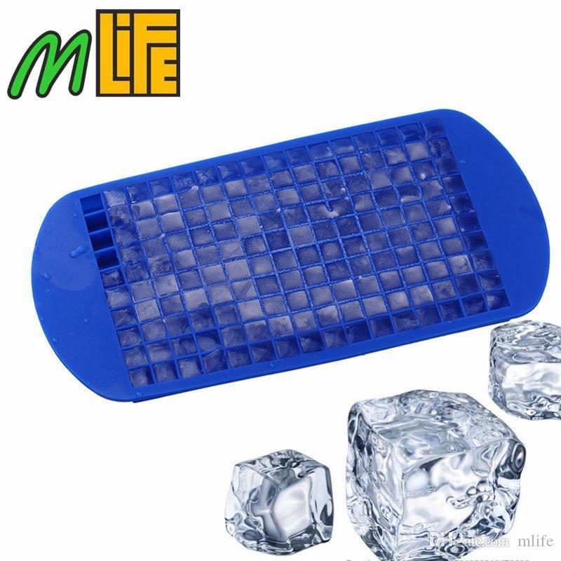 160 Grids DIY Criativo Pequeno Cubo de Gelo Mold Quadrado de Silicone Bandeja De Gelo De Frutas Ice Cube Maker Bar Kitchen Partido Bebidas Acessórios