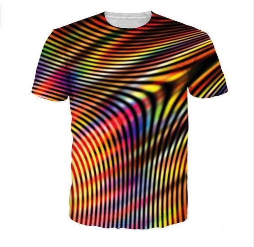 La más nueva moda para mujer / para hombre Holograma Melt Summer Style manga corta Funny 3D Imprimir camiseta casual TX0043