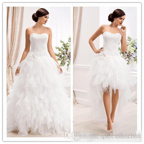 Abiti da sposa eleganti dell'abito di sfera dell'innamorato con il pannello esterno staccabile Abiti da sposa da