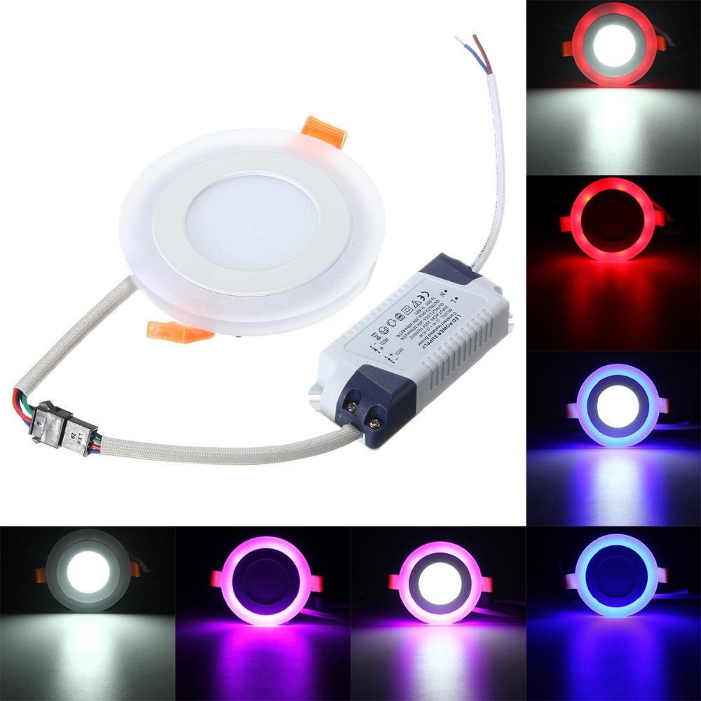 جديد RGBW 3 نماذج LED لوحة ضوء مع التحكم عن بعد 6w / 9w / 18w / 24W مصابيح السقف سبوت LED راحة