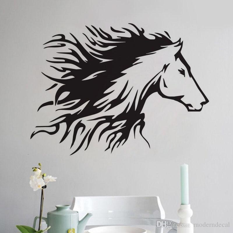 Head Of Horse Wall Stickers Home Decoration Accessories Vinyl Art Wall Decals Animals Painting For Wall Letter Wall Stickers Love Wall Decals From