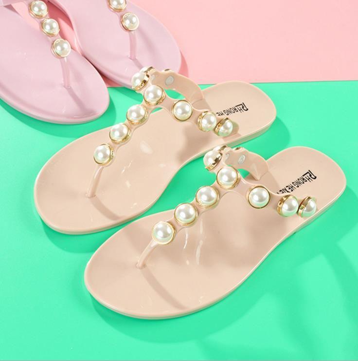 Summer Women Infradito Sandali Scarpe da giardino Pantofole fatte a mano fatte a mano Gel Color Sandali da spiaggia hawaiani