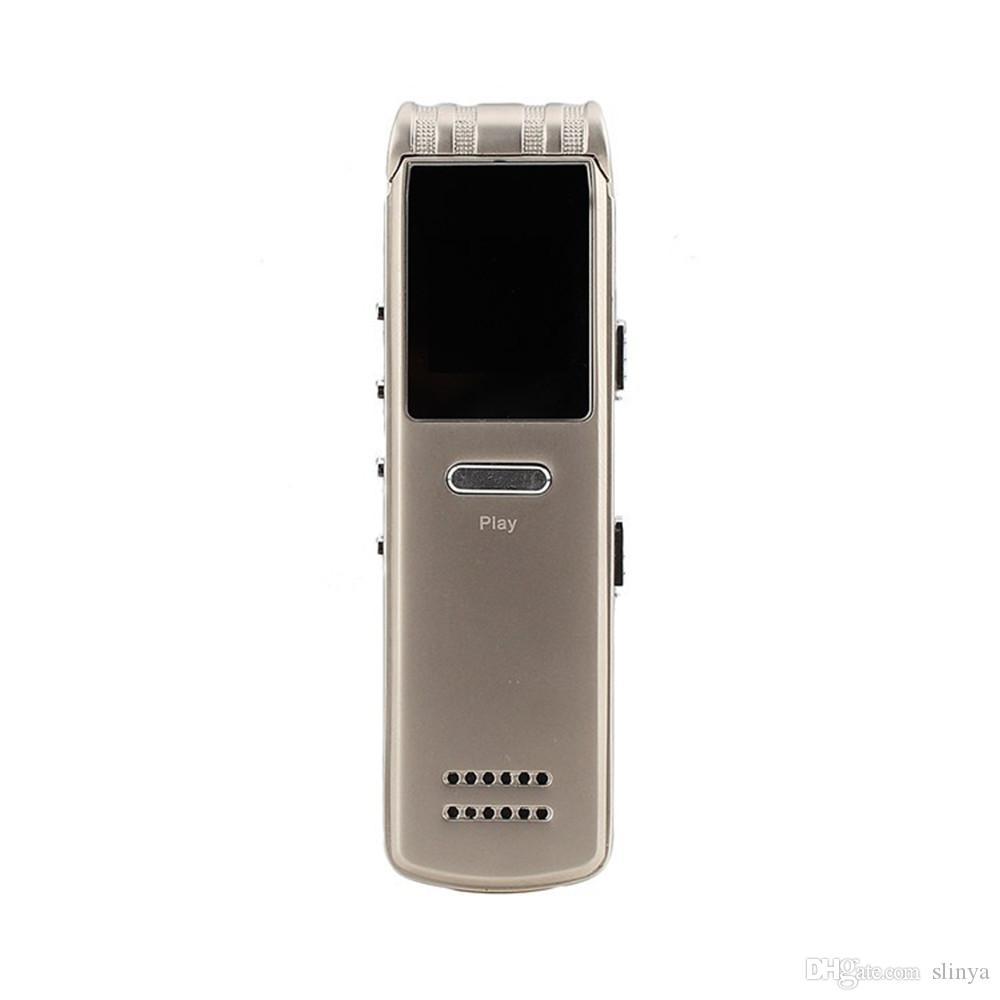 Mini Portable 8GB Voice Activated MP3 / WMA / WAV Digital Voice Recorder Lettore MP3 Altoparlanti ad alta fedeltà incorporati
