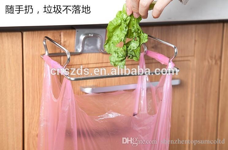 Dirza Trash Bag Holder for Kitchen Cabinet Bolsas de basura Hanging Rack