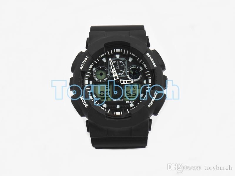 1pcs New top relogio G100 montres de sport pour hommes, LED chronographe montre-bracelet montre militaire montre numérique, bon cadeau pour, dropshipping