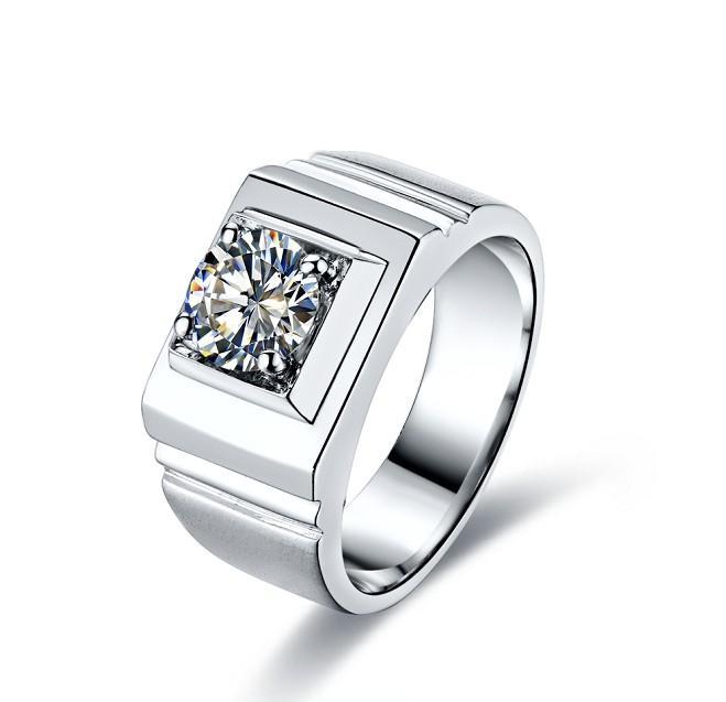 Incredibile anello di fidanzamento con diamante sintetico di alta qualità 1CT, in argento massiccio, giorno di anniversario in argento