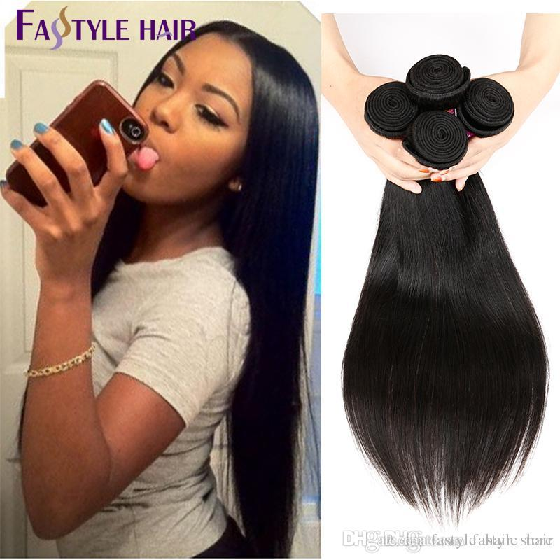 Fastyle Factory Peruvian Straight Hair Extensions Unprocessed Brazilian Malaysian Indian Virgin Human Hair Bundles Higt Quality LOW Price