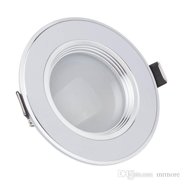 Dimmbare LED-Deckenleuchte 3W 5 Watt 7W 9W 12W warmweiß kaltweiß eingebetteter LED-Lampe-Spot-Licht AC220V AC110V