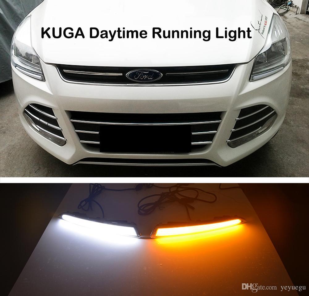 CLIGNOTANTS la lumière et fermer le relais 12V GUIDE LED VOITURE diurne DRL accessoires d'éclairage pour FORD Kuga Évasion 2013 2014 2015