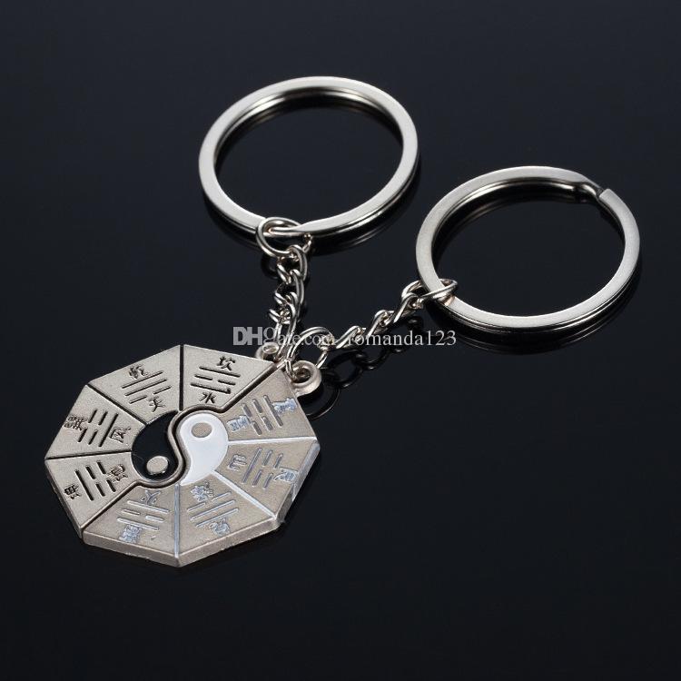 커플 열쇠 고리 여덟 다이어그램 연인 키 체인 여성 보석 기념품 웨딩 애호가 발렌타인 데이 선물 DHL 무료 배송