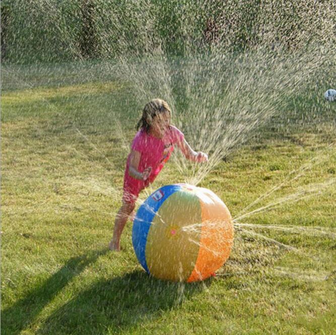 Открытый надувной пляжный водяной шар 60 см (23,6 дюйма) спринклерный летний надувной воздушный шар для распыления воды на открытом воздухе играть в водном пляжном шаре
