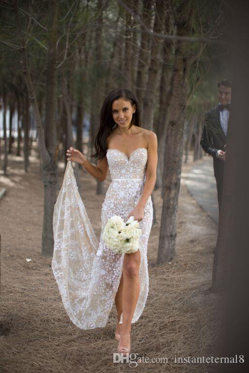 Sweetheart Simple Beach Wedding Dresses