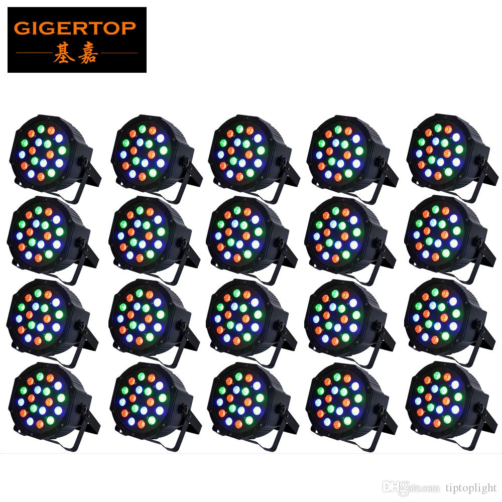 Freeshipping 20pcs/lot 18x3W Led Par Cans Light RGB Tri Color Stage Lighting Effect 54W Certification CE disco/dj light star TP-P05
