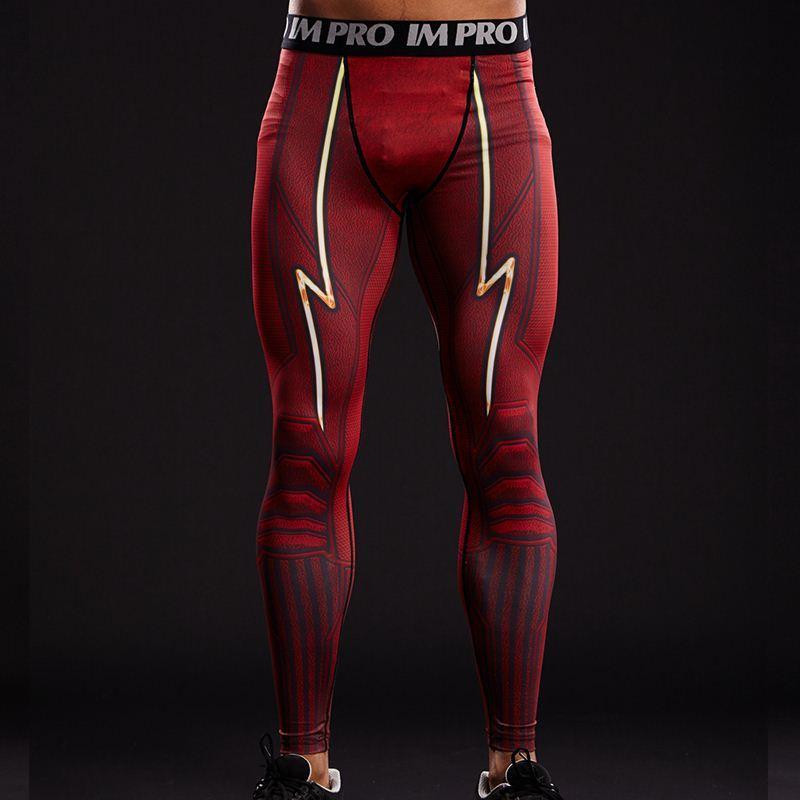 FLASH 3D stampato leggings uomo modello collant a compressione pantaloni 2017 nuovo arrivo skinny pantaloni sportivi da allenamento crossfit pantaloni maschili