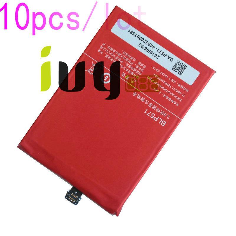 10 adet / grup 3000 mAh Orijinal BLP571 Yedek Li-Polimer Pil Için ONEPLUS 1 + Bir artı 64 GB 16 GB Piller Batteria Batterij