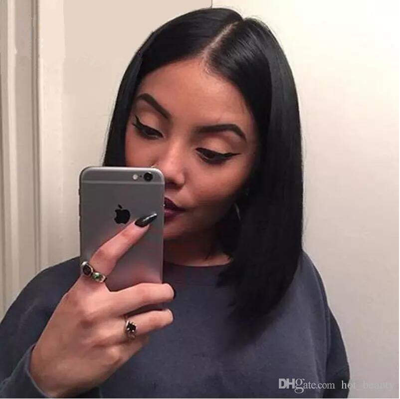 Parrucche piene del merletto diritte di seta del grado 8A parrucche anteriori del merletto dei capelli del bambino parrucca 100% brasiliana vergine non trattata dei capelli umani per le donne nere