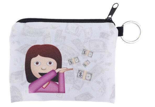 100pcs 29 Styles Children cute small Cartoon expression emoji Wallet Zipper Case Coin change Purse Pouch mini bag goodfaithgirl Free shippng