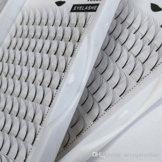 Горячие продажи корейского шелка 5D Premade вентиляторы объем ресниц, настроить логотип и упаковка