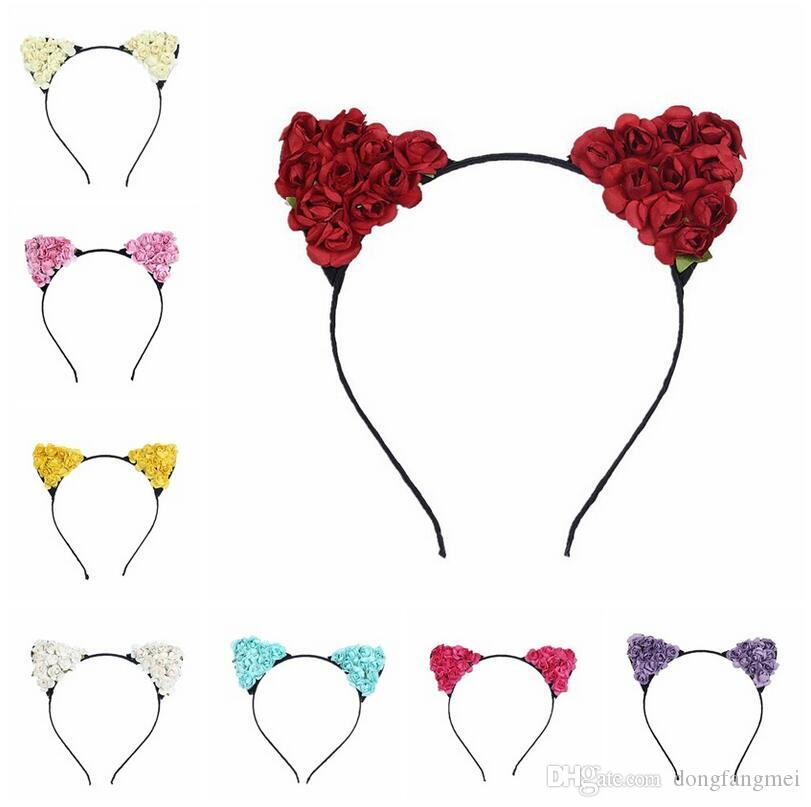 Best gift New parent-child headdress animation cosplay cat ears hair hoop lady little devil TG029 mix order 30 pieces a lot