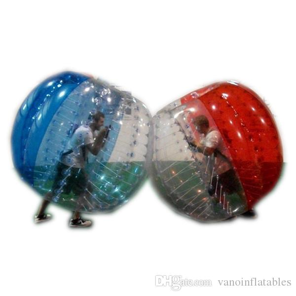 Suits bolha futebol livre Entrega Zorb corpo Blue Balls Outdoor Qualidade Assegurada 3 pés 4 pés 5 pés 6 pés