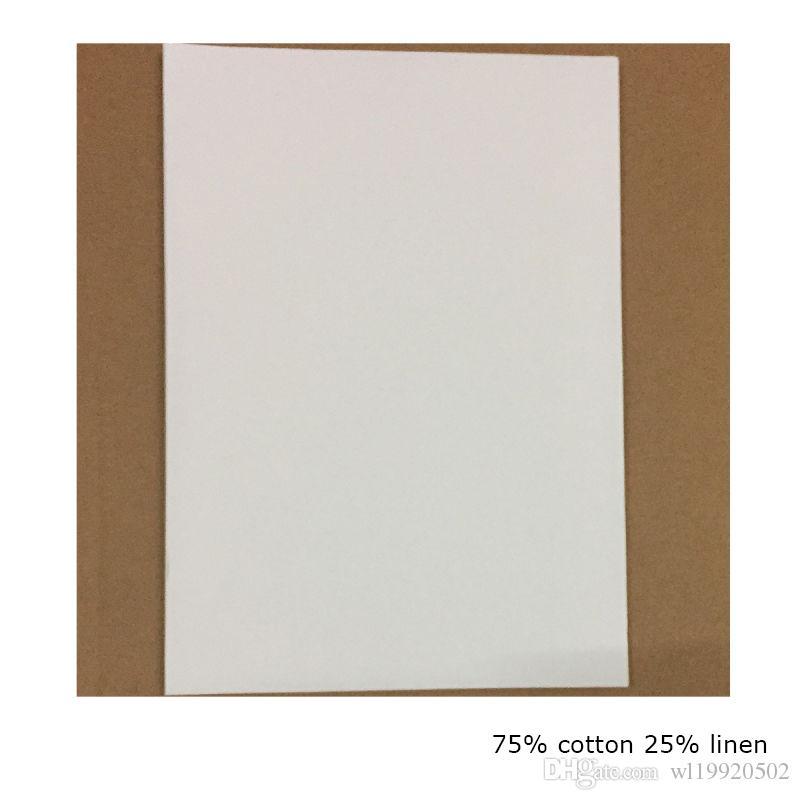 200 feuilles par 0,13 mm d'épaisseur de feuille de 75% coton 25% lin de papier bond a4