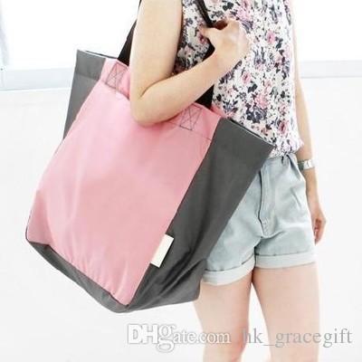 حقائب السفر للماء الفتاة حقيبة كبيرة حقيبة الكتف حقيبة قابلة للطي حقيبة تسوق للماء