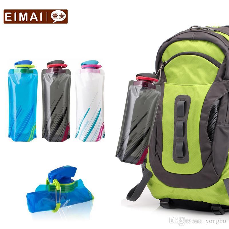 700ml Erwachsene Sport Falten Wasserflasche Tour Kletterlager Outdoor Sports Convenience Kunststoff PP Wasserflaschen UB23