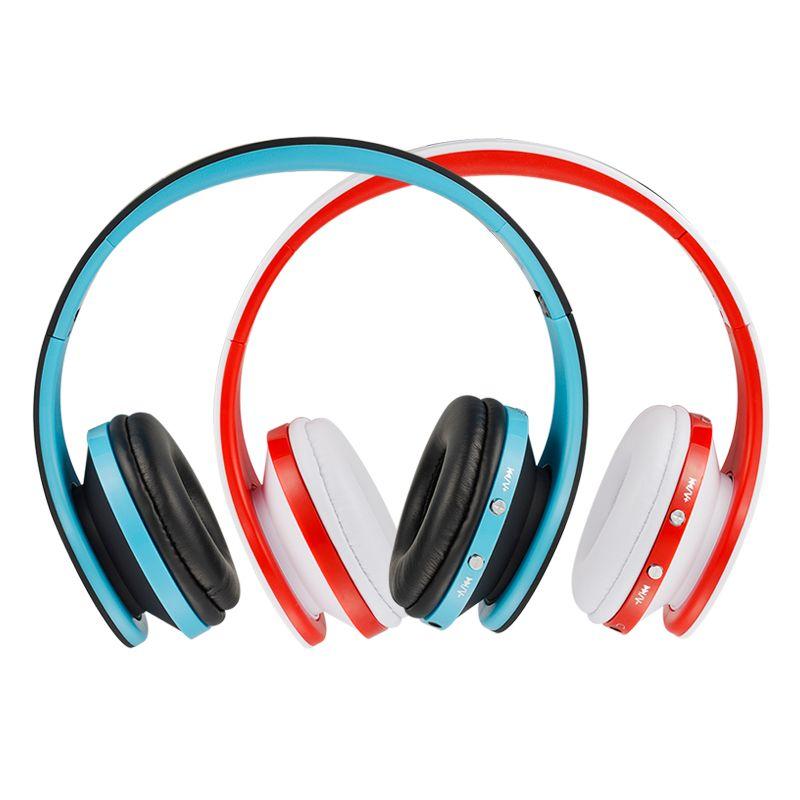 Stereo NX-8252 Professionelle faltbare drahtlose Bluetooth-Kopfhörer Super-Effekt Bass bewegliche Kopfhörer für DVD MP3 Handy