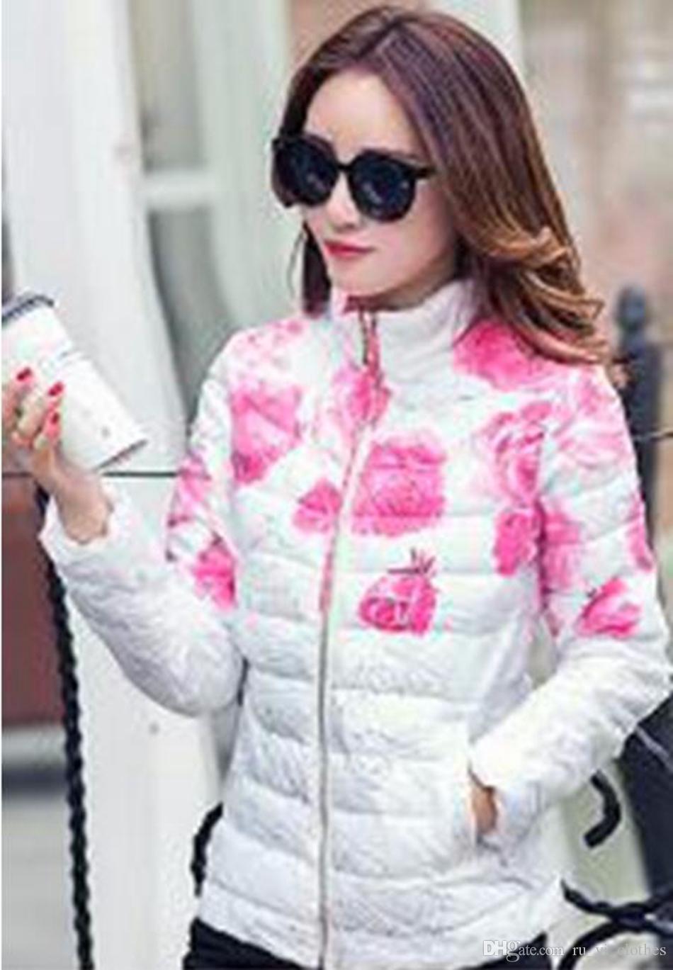 Mehr Frauen Winter neu kultivieren jemandes Moralität zeigen dünnen kurzen Absatz Baumwolle gefütterte Jacke Daunenjacke Mantelkragen / M-2XL