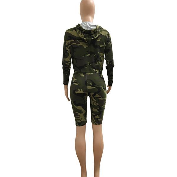Großhandel 2017 Herbst Sommer Pullover Mode Marke Frauen Armee Hoodies Sweatshirts Mit Kurzen Hosen Damen Trainingsanzug Zweiteiler Von Taimasi,