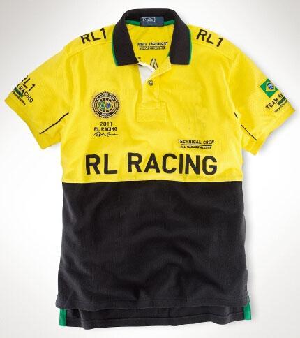 Argentine cheval de la mode équipe de course polo t-shirts à manches courtes hommes Espagne Brésil Italie Allemagne coton broderie course mince T-shirt