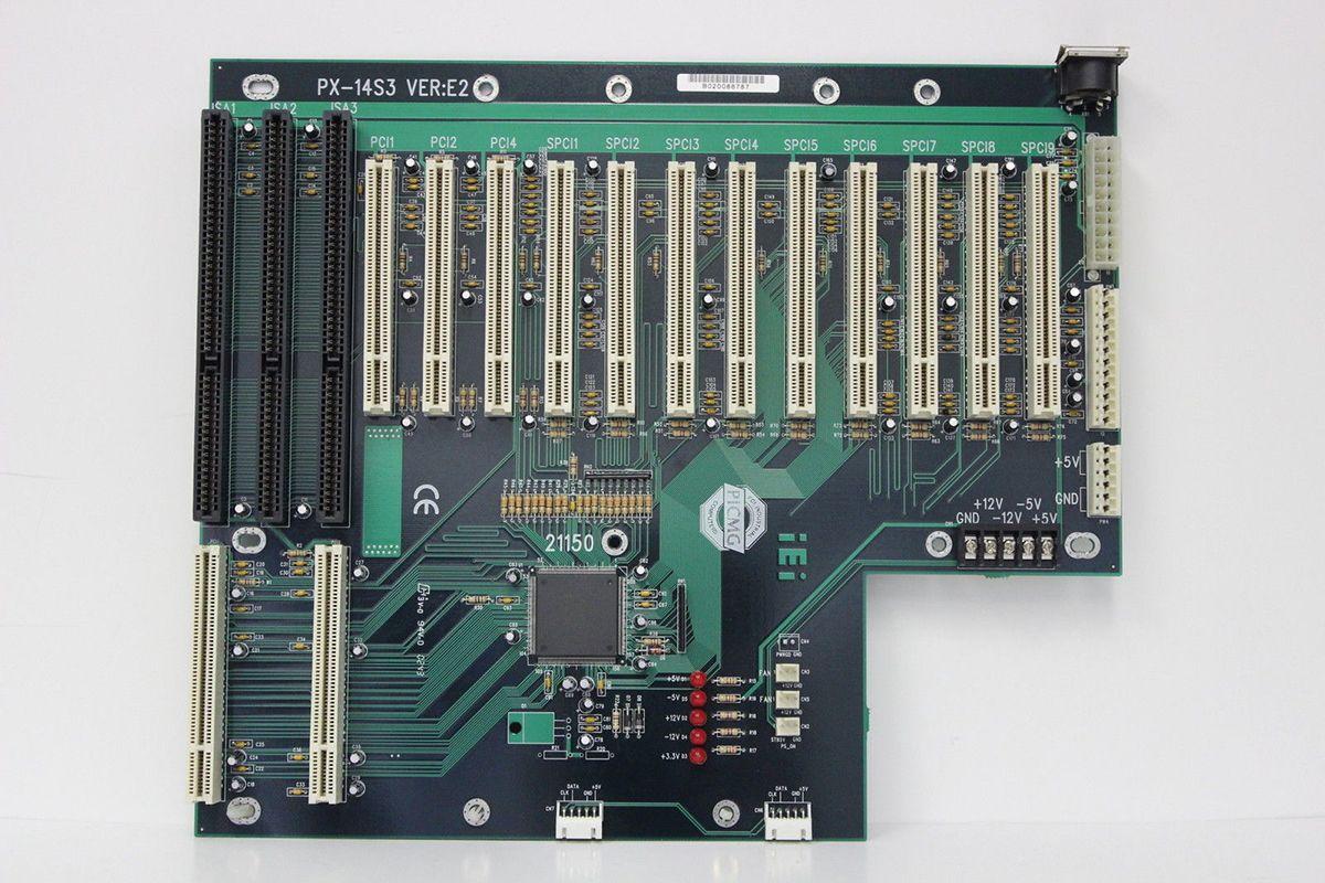 IEI ICP IPC PX-14S3 VER: E2 PICMG-Rückwandplatine ursprüngliches Motherboard 100% getestet, gebraucht, guter Zustand mit GarantiePSCIM-CPU