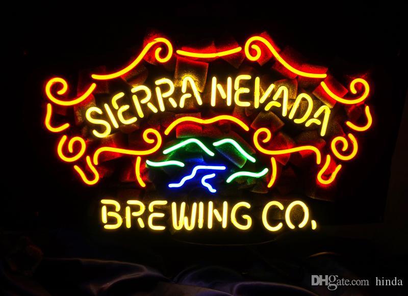 New Tat Reifen Neon Bier Zeichen Bar Zeichen Echtglas Neonlicht Bier Zeichen MEX 508-Sierra Nevada Brewing Co 17 * 14 Zoll