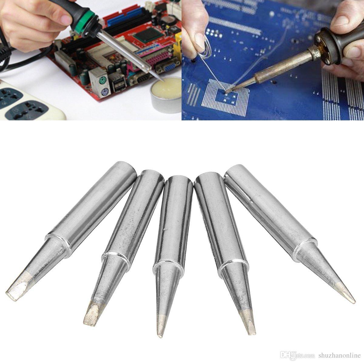 5PCS Solder Iron Tip 900M-T-0.8D For Hakko Soldering Rework Station Tool