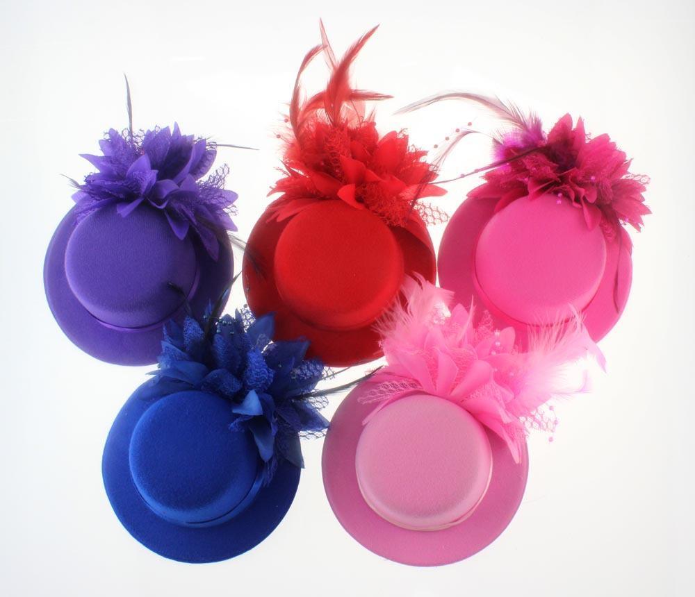12 colori piuma sposa copricapo capelli cappello clip pizzo fiore tornante festa nuziale moda donna homburg modisteria 13 cm decorazioni per capelli